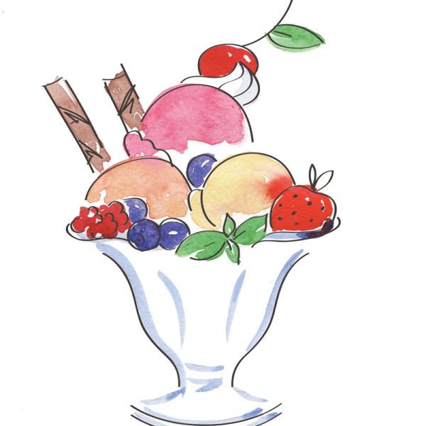 Мороженое из экзотических фруктов